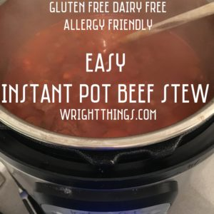 Easy IP Beef Stew - Allergy