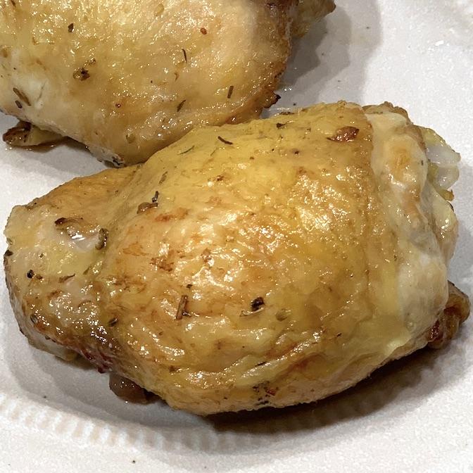 air fryer chicken thigh recipe with crispy skin