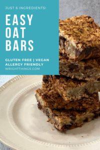 easy gluten free vegan oat bars recipe