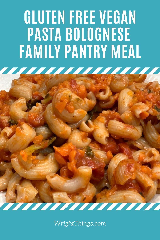 gluten free vegan pantry pasta