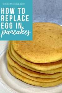 how to replace eggs in pancakes