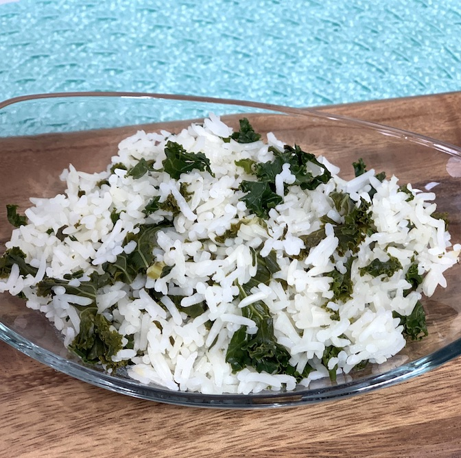 Basmati Rice and Kale in the Instant Pot {Gluten Free, Vegan, Allergy Friendly)