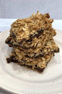 vegan oatmeal fig bars gluten free