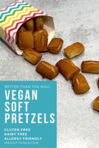gluten free vegan soft pretzels