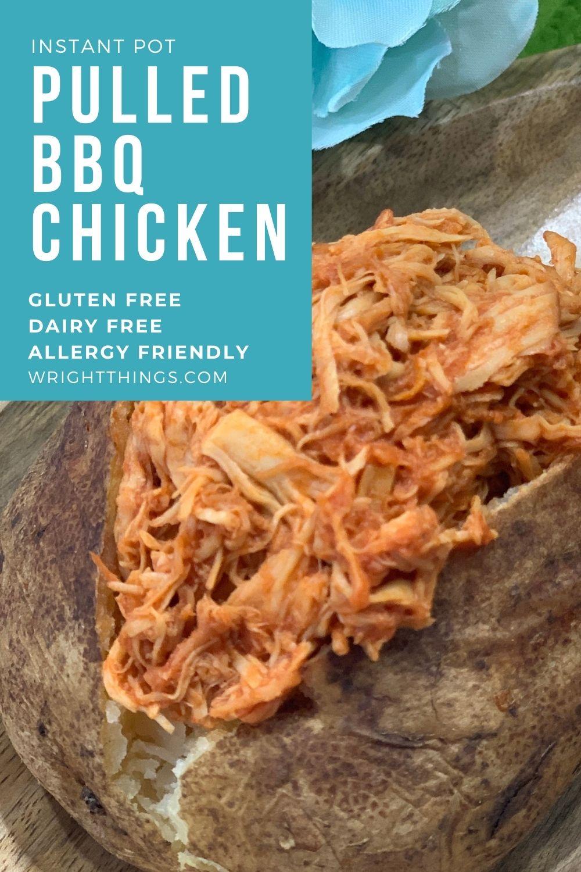 instant pot shredded bbq chicken allergy friendly gluten free