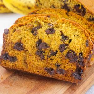 gluten free pumpkin banana bread dairy free