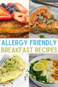 allergy friendly allergy free breakfast ideas