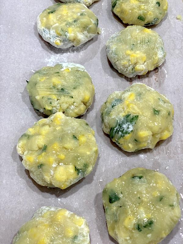Potato and corn cakes