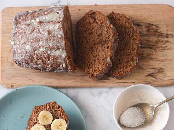 gluten free vegan gingerbread loaf cake