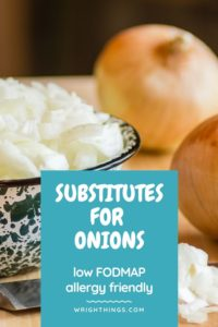 low fodmap substitute for onions