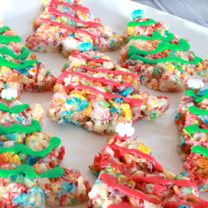 fruity pebble treats with coconut oil