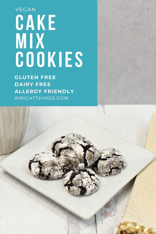 gluten free vegan chocolate cake mix cookies